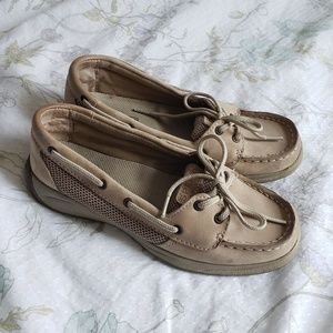 ✿❀ Sperry Kids Tan Cream Boat Shoes ❀✿